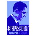 Obama Blue 44th President Poster 3 print