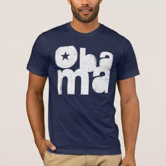 Obama Bold Square (Navy) T-Shirt