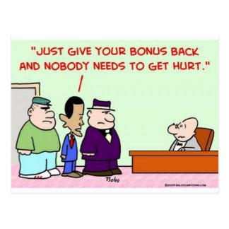 obama bonus give back postcard