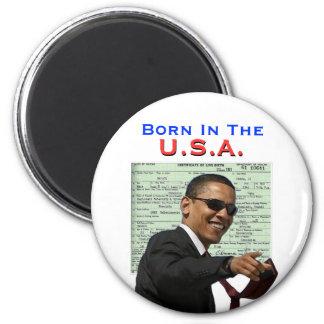 Obama: Born In The U.S.A. 2 Inch Round Magnet