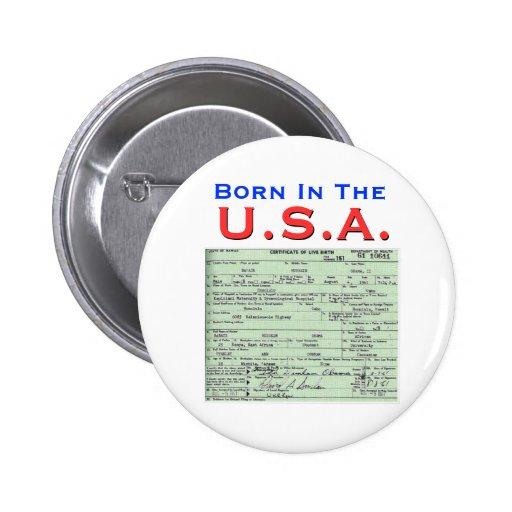 Obama: Born In The U.S.A. Button