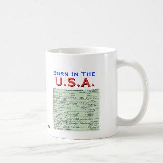 Obama: Born In The U.S.A. Classic White Coffee Mug