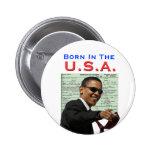 Obama: Born In The U.S.A. Pinback Button