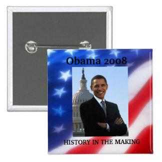 OBAMA - botón 2008 de la elección Pins