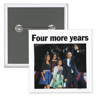 Obama: Botón de cuatro más años Pin