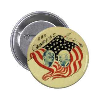 Obama/botón de la bandera de Biden Pin Redondo 5 Cm