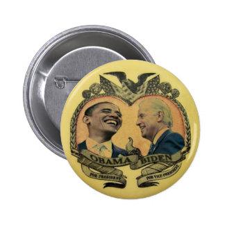 Obama/botón retro de Biden Jugate Pin Redondo 5 Cm