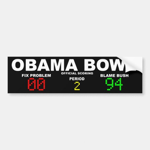 Obama Bowl - Official Scoring Bumper Sticker