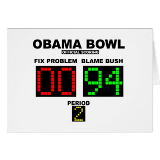 Obama Bowl - Official Scoring Cards