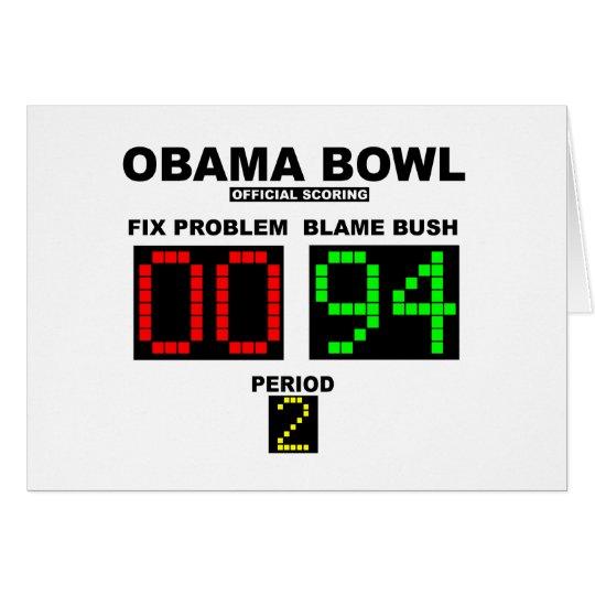 Obama Bowl - Official Scoring Card