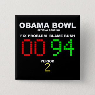Obama Bowl - Official Scoring Pinback Button