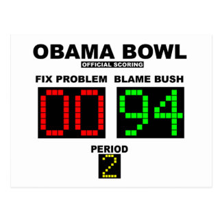 Obama Bowl - Official Scoring Post Cards