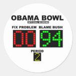 Obama Bowl - Official Scoring Round Sticker
