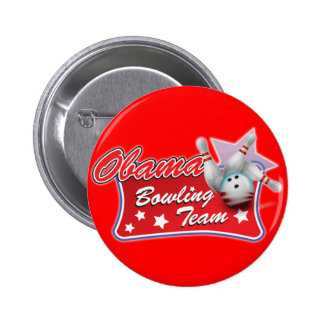 Obama Bowling Team Pinback Buttons