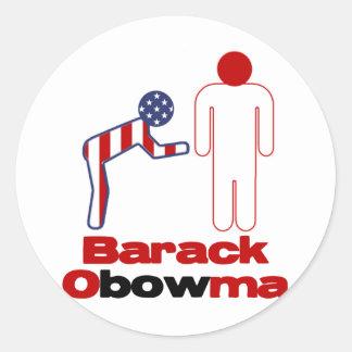 Obama Bows Classic Round Sticker