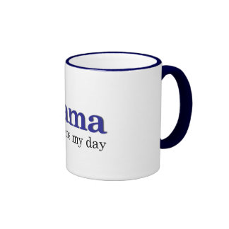 Obama brightens my day ringer coffee mug