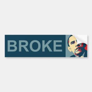 Obama:  Broke Bumper Stickers