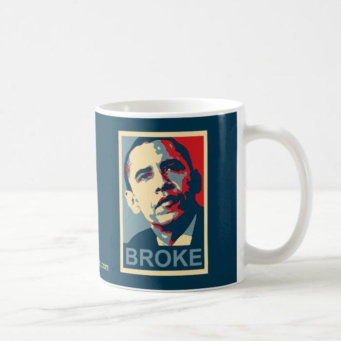 Obama:  Broke Coffee Mug