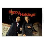 Obama buenas fiestas tarjeta