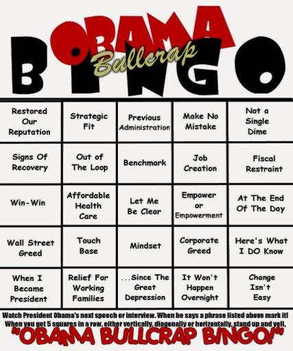 Obama Bullcrap Bingo Tee Shirts