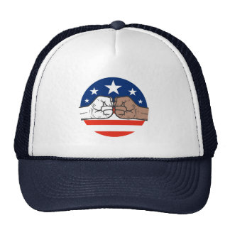 Obama Bump Unity Black and White America Hats