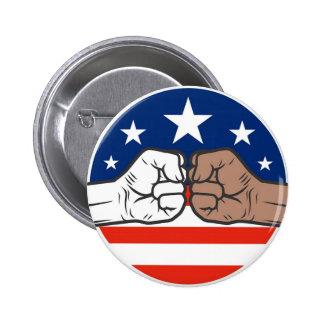 Obama Bump Unity Black and White America Pinback Button