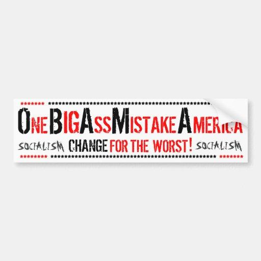 Big ass mistake america sticker