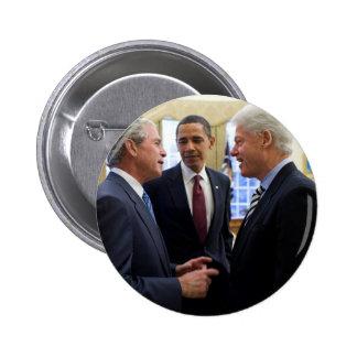 Obama Bush and Clinton 2 Inch Round Button