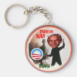 Obama/ Bush Exorcist Key Chain