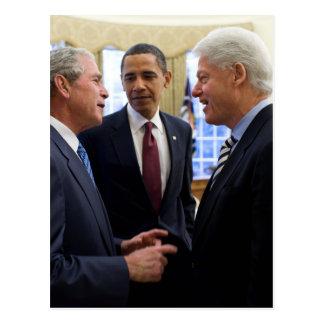 Obama Bush y Clinton Postal