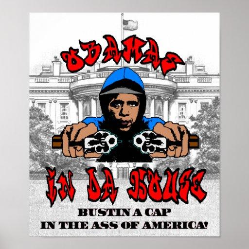 Obama Bustin A Cap Poster