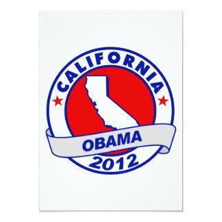Obama - California 5x7 Paper Invitation Card