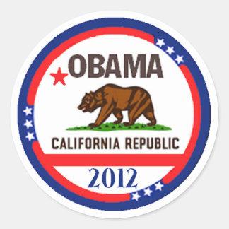 Obama California Etiqueta Redonda