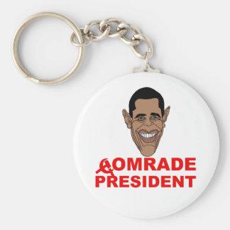 Obama: Camarada presidente Llavero Redondo Tipo Pin