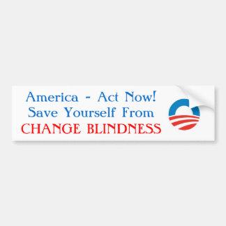 Obama - cambie a la pegatina para el parachoques d pegatina para auto