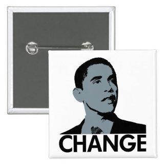 Obama: Cambie el botón cuadrado Pin