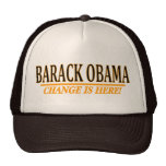 ¡Obama - cambie está aquí! Gorras De Camionero