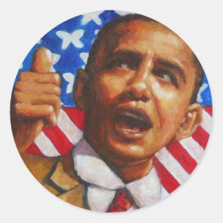 Obama: Cambie está aquí Pegatina Redonda