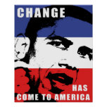 Obama - cambie ha venido a América Poster