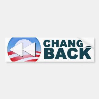 Obama: Cambio detrás Etiqueta De Parachoque