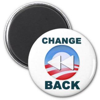 Obama: Cambio detrás Imán Redondo 5 Cm