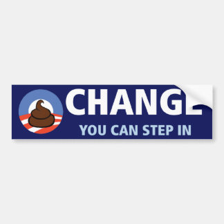 Obama: Cambio usted puede caminar adentro Etiqueta De Parachoque