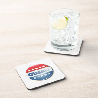 OBAMA CAMPAIGN BUTTON - png Drink Coaster