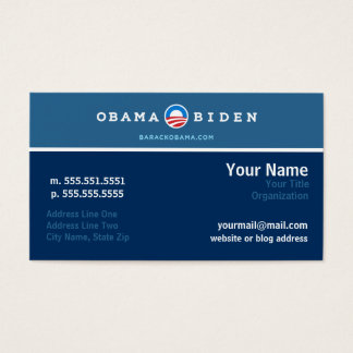 Obama Campaign Networking Card