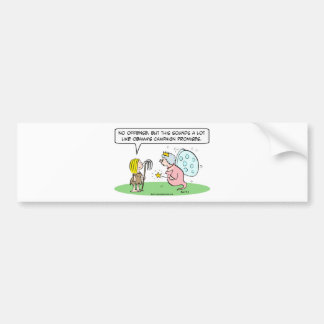 obama campaign promises cinderella fairy godmother bumper sticker