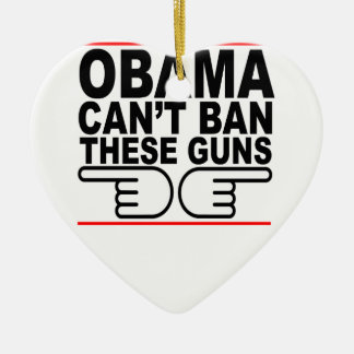 Obama Can't Ban These Guns T-Shirts K.png Christmas Ornaments