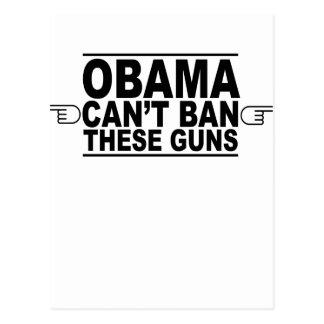Obama Can't Ban These Guns T-Shirts.png Postcard
