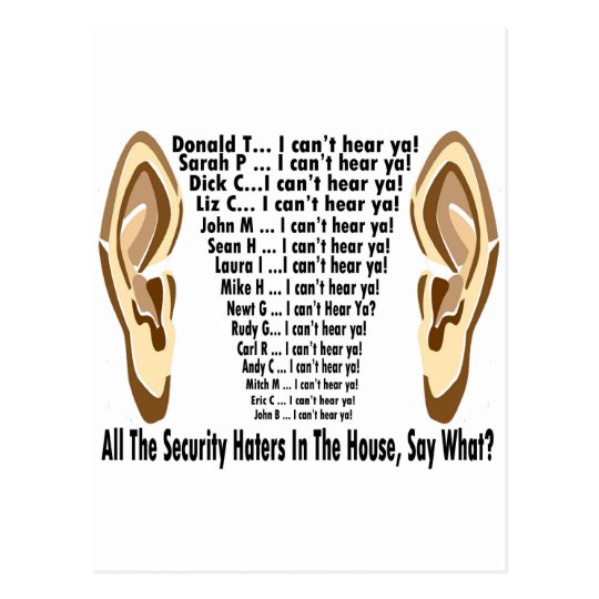 Obama  Can't Hear Haters Postcard