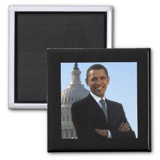 Obama-Capital 2 Inch Square Magnet