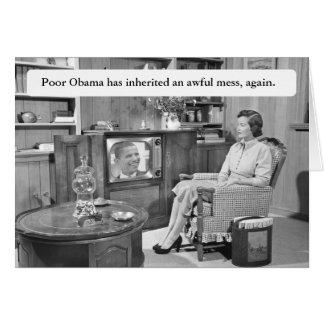 Obama carda otra vez felicitación
